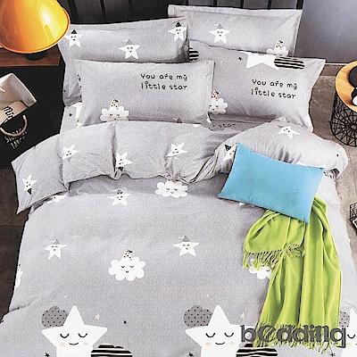 BEDDING-活性印染5尺雙人薄床包涼被組-幸福空間
