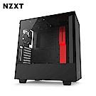 NZXT恩傑 H500 MID-TOWER CASE 電腦機殼/鋼化側透玻璃-紅