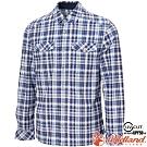 Wildland 荒野 0A72202-103牛仔藍 男彈性針織格紋保暖襯衫