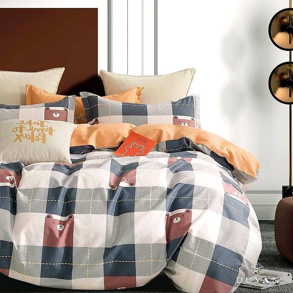 (均一價)DUYAN竹漾-100%精梳純棉-單/雙/大床包被套組-多款任選 台灣製 (小熊軟鋪)