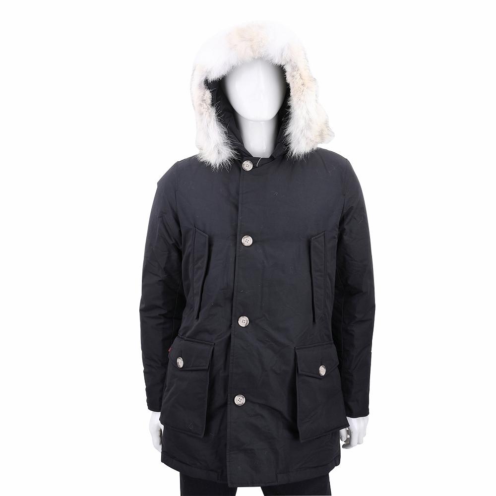 Woolrich Arctic Parka 可拆毛領黑色連帽羽絨外套(男款)
