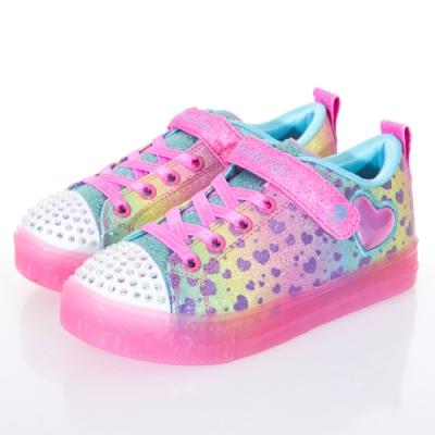 SKECHERS 女童系列 SHUFFLE BRIGHTS 燈鞋 - 314255LMLT