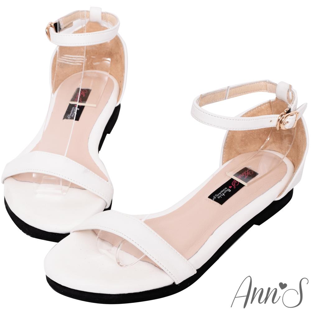 Ann'S無極限的重複穿搭-極簡平底涼鞋-白(版型偏大)
