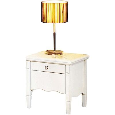 綠活居 吉卡斯法式白1.7尺實木床頭櫃/收納櫃-51x46x51cm免組