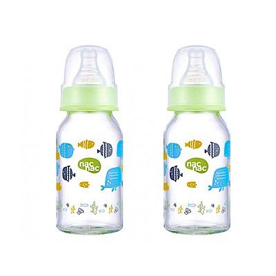nac nac 好朋友系列(海洋)-吸吮力學標準耐熱玻璃奶瓶 120ml (2入組)