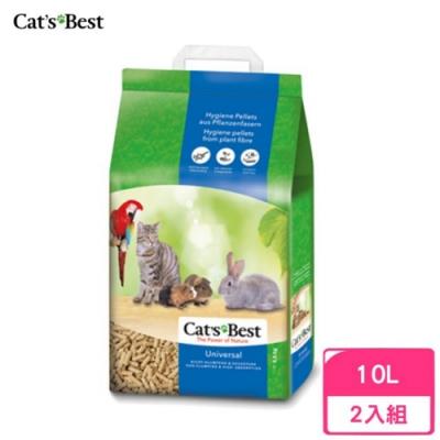 德國凱優Cat′s Best-粗顆粒木屑砂(藍標崩解型) 10L/5.5kg 兩包組