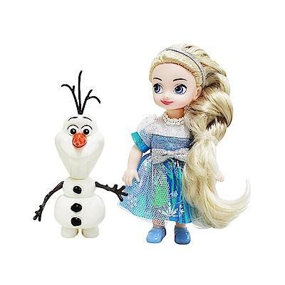迪士尼公主系列  4 吋迷你艾莎娃娃組