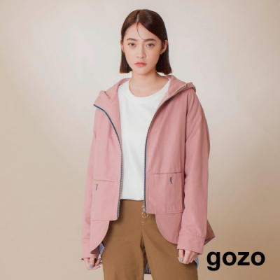 gozo-休閒印花連帽外套(兩色)