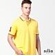 oillio歐洲貴族 男裝 短袖吸濕排汗透氣POLO衫 舒適彈力天然棉 全棉彈力 黃色 product thumbnail 1