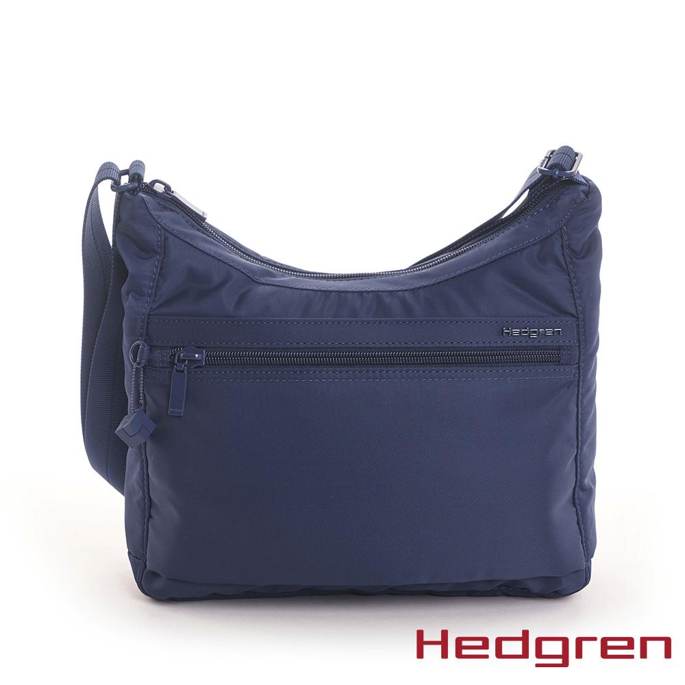 【Hedgren】INNER CITY輕量 彎月水餃側背包-寶藍(S)