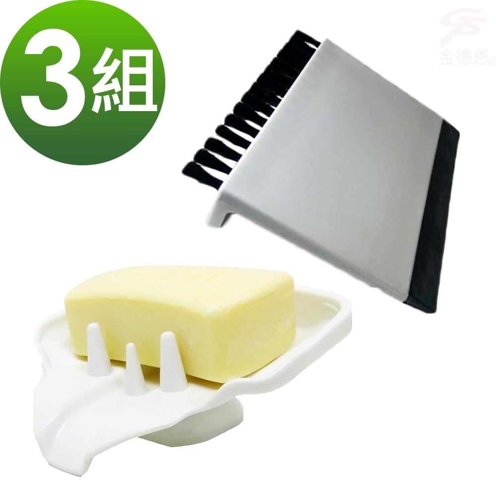 【團購主打】3組香皂菜瓜布水槽鳥嘴瀝水架+送菜渣刮水刷x3
