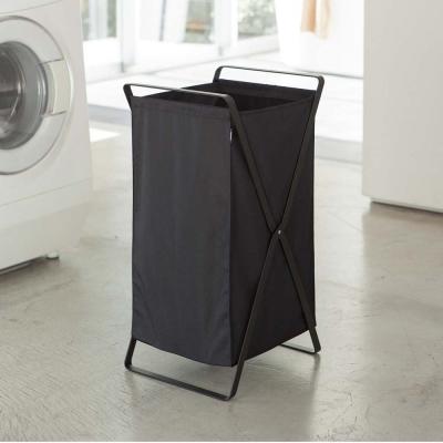 【YAMAZAKI】tower可折疊洗衣籃-黑★洗衣袋/萬用收納/衛浴收納/居家收納
