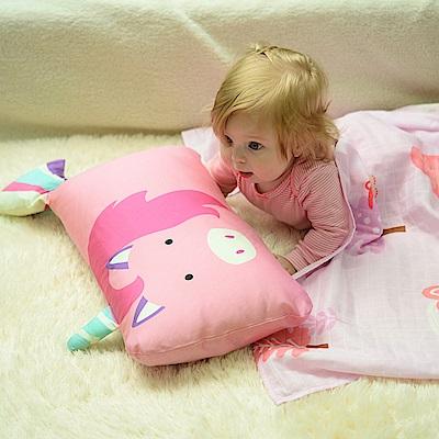 Milo&Gabby動物好朋友-超細纖維防蹣抗菌mini枕心枕套組(EMILY獨角獸)