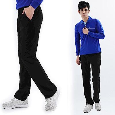 【遊遍天下】男款彈性抗UV透氣休閒長褲GP10002黑色