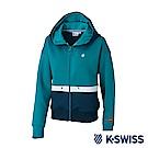 K-Swiss Hooded Sweat Zip up女休閒連帽外套-女-綠