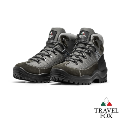 TRAVEL FOX(男) 稳石登山越野防水禦寒防震專業戶外登山鞋 -灰