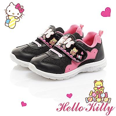 HelloKitty 糖果系列 透氣輕量減壓抗菌防臭休閒童鞋-黑
