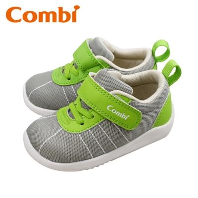 日本Combi童鞋 玩轉經典幼兒機能包鞋-碧綠灰