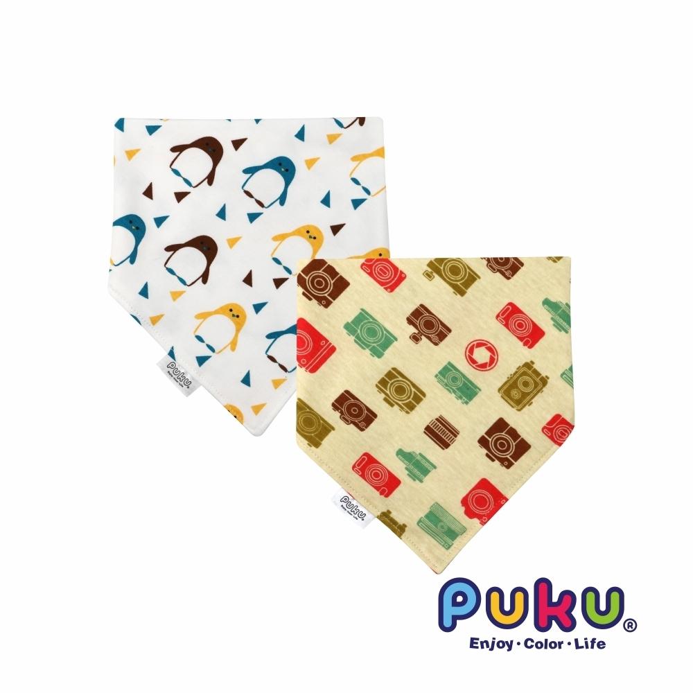 【PUKU】柔棉造型領巾2入