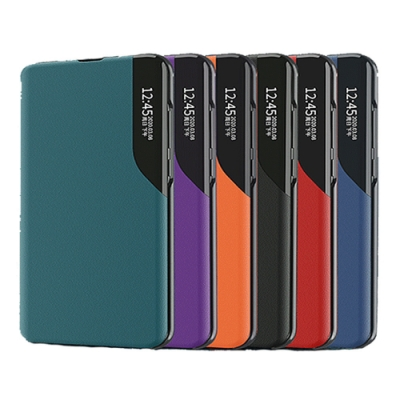 QinD SAMSUNG Galaxy Note 20 Ultra 側顯磁吸半窗支架皮套