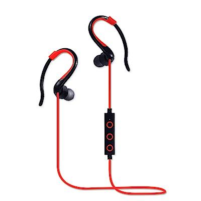 YANG YI 揚邑 YS008運動立體聲耳掛入耳式IPX4級防潑水藍牙耳機-紅色
