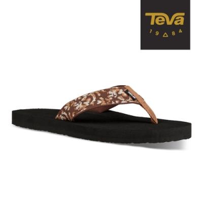 TEVA 男 Mush II 寬版織帶夾腳拖鞋-荊棘咖啡棕