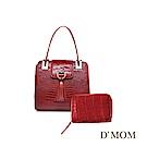 DMOM西班牙設計款COCO鱷魚包-紅