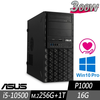 ASUS 繪圖先鋒工作站 i5-10500/16G/M.2-256G+1TB/P1000/W10P