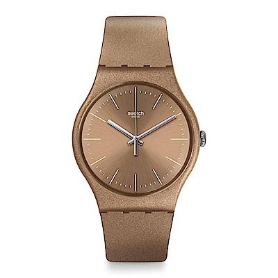 Swatch POWDERBAYANG 閃耀燦金手錶