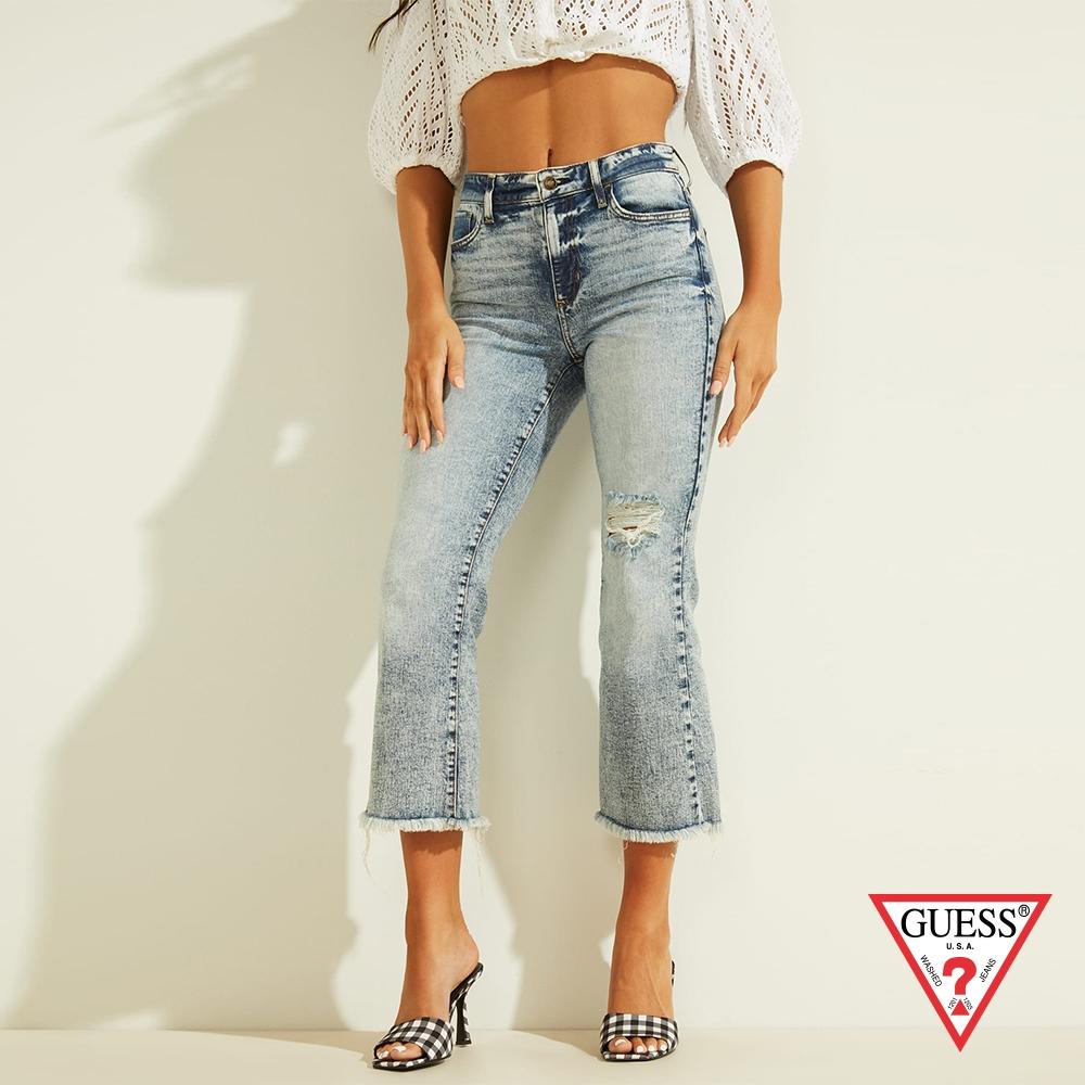 GUESS-女裝-修身刷破牛仔褲-藍 原價3490