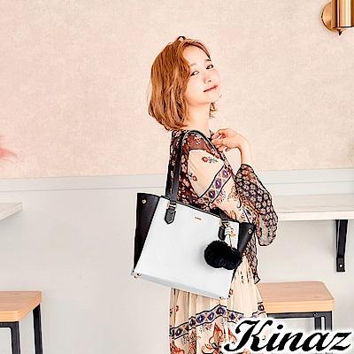 KINAZ 純真年華兩用斜背托特包-黛安娜系列