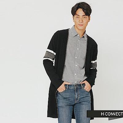 H:CONNECT 韓國品牌 男裝-隨性開襟針織外套-黑