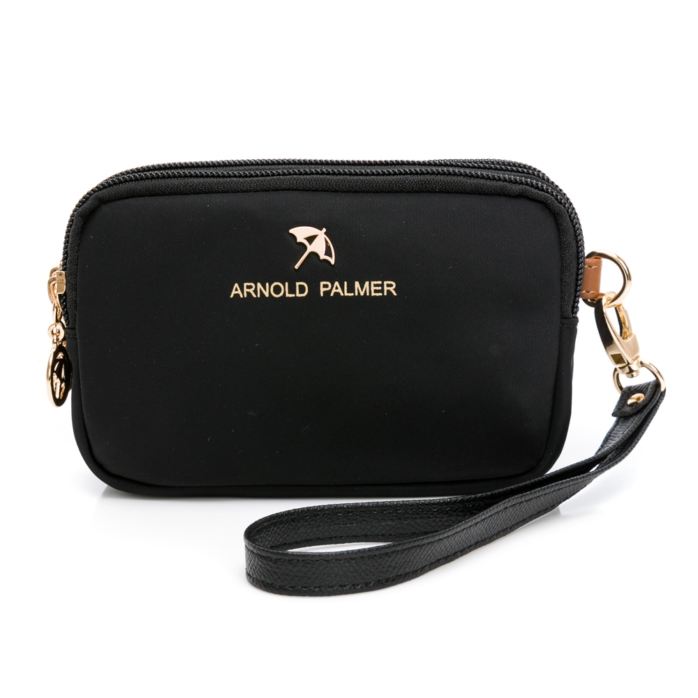 Arnold Palmer - 三層萬用包 黑尼龍系列 - 黑色