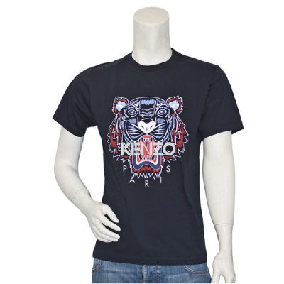 KENZO 經典老虎標誌印花短袖圓領衫(黑)