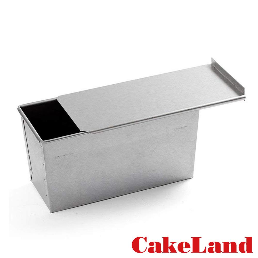 日本CakeLand 2斤附蓋長方型吐司烤模-日本製