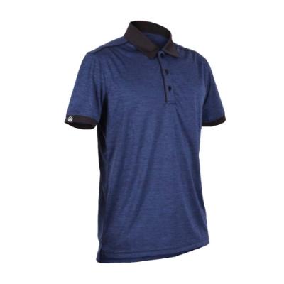 FIRESTAR 男短袖高爾夫球衫-POLO衫 高爾夫球 慢跑 丈青黑