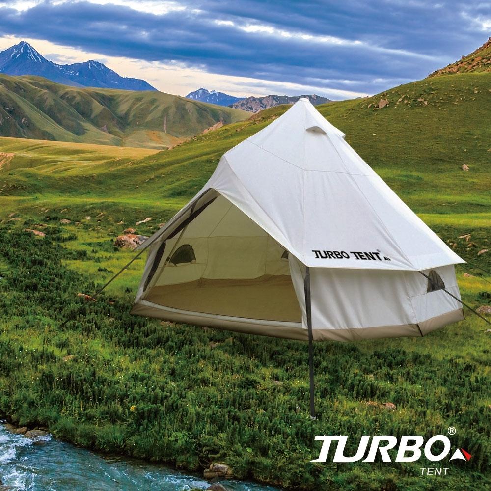 【Turbo Tent】Sahara 400-科技棉10人帳篷 一桿帳