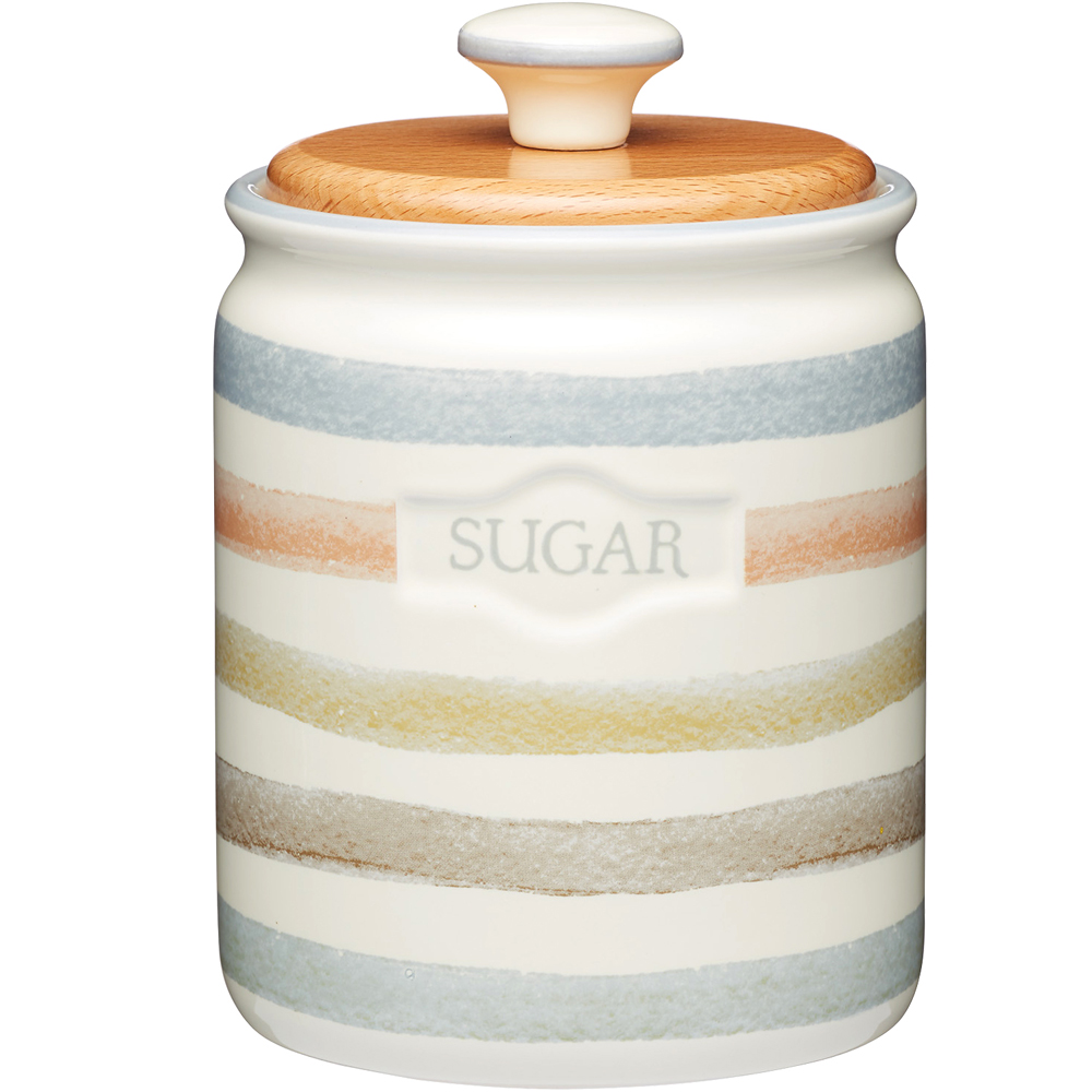 《KitchenCraft》砂糖陶製密封罐(復古條紋)
