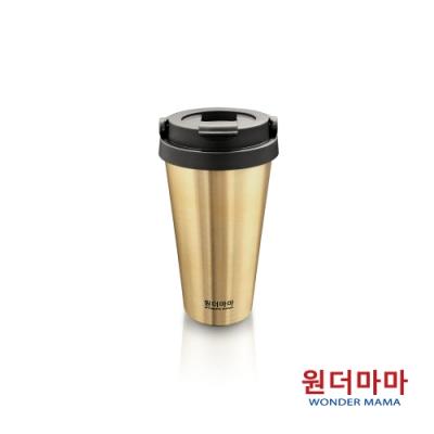 韓國WONDER MAMA 480ml香檳金不鏽鋼保溫杯(含蓋)