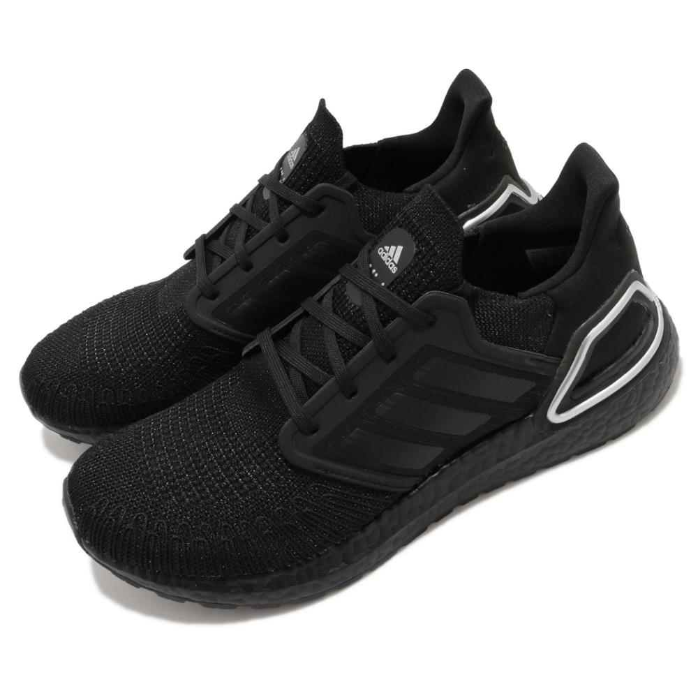 adidas 慢跑鞋 Ultraboost 20 襪套式 男鞋 愛迪達 三葉草 路跑 緩震 透氣 穿搭 黑 銀 FV8333