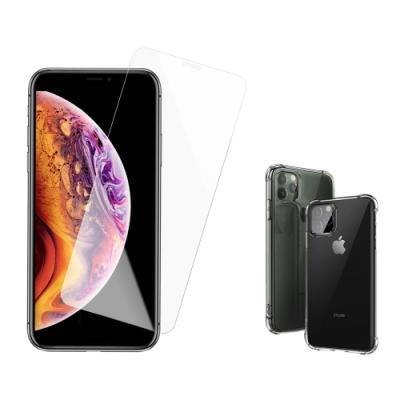 iPhone 11 Pro Max 高清透明 手機 保護貼 - 贈四角防摔 手機殼 保護套-i11 Pro Max透明*1-贈殼/透明黑*1