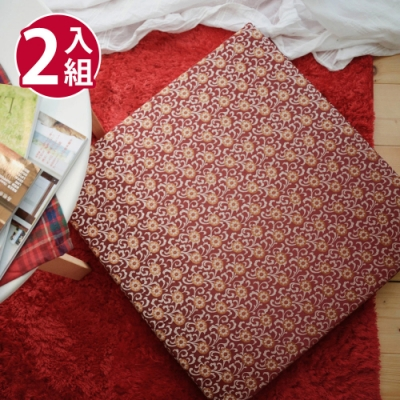 絲薇諾 MIT太空記憶坐墊-金莎紅/2入組(54×56cm)