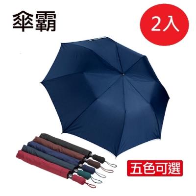 傘霸 56吋無敵大傘面自動四人雨傘(兩入組)