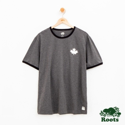 男裝Roots 度假小屋短袖T恤-灰色