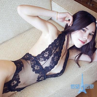慾望巴黎    黑絲透視蕾絲情趣内衣B3244