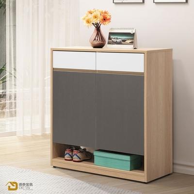 D&T 德泰傢俱 Buck原切色4尺組合高鞋櫃 寬40×深40×高201.5cm+寬80×深40×高201.5cm