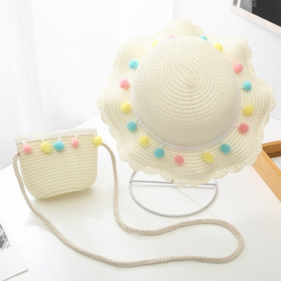 Baby童衣 女童遮陽帽 手工草編帽子贈草編包包 女寶寶渡假帽 88281