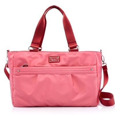 ELLE Active 優雅隨行系列-托特包/購物袋/肩背包-粉紅色