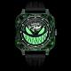 ROMAGO碳纖維馭光者系列 螢光鬼臉設計機械錶-夜光綠/46.5mm RM111-GR product thumbnail 2
