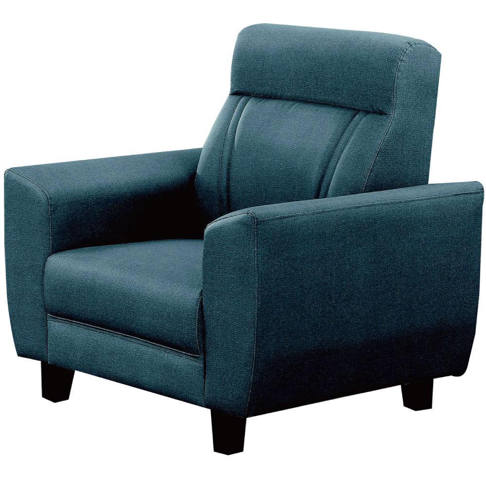 綠活居 艾丁尼時尚灰貓抓皮革單人座沙發椅-95x88x96cm免組